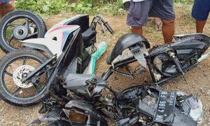 Kondisi kendaraan korban kecelakaan di Wongsorejo Banyuwangi. (Foto. Iptu ARDHI)