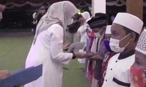 Bupati Banyuwangi Ipuk Fiestiandani dalam acara bertajuk Munajat Kebangsaan untuk Keselamatan Banyuwangi. (Foto. Istimewa)
