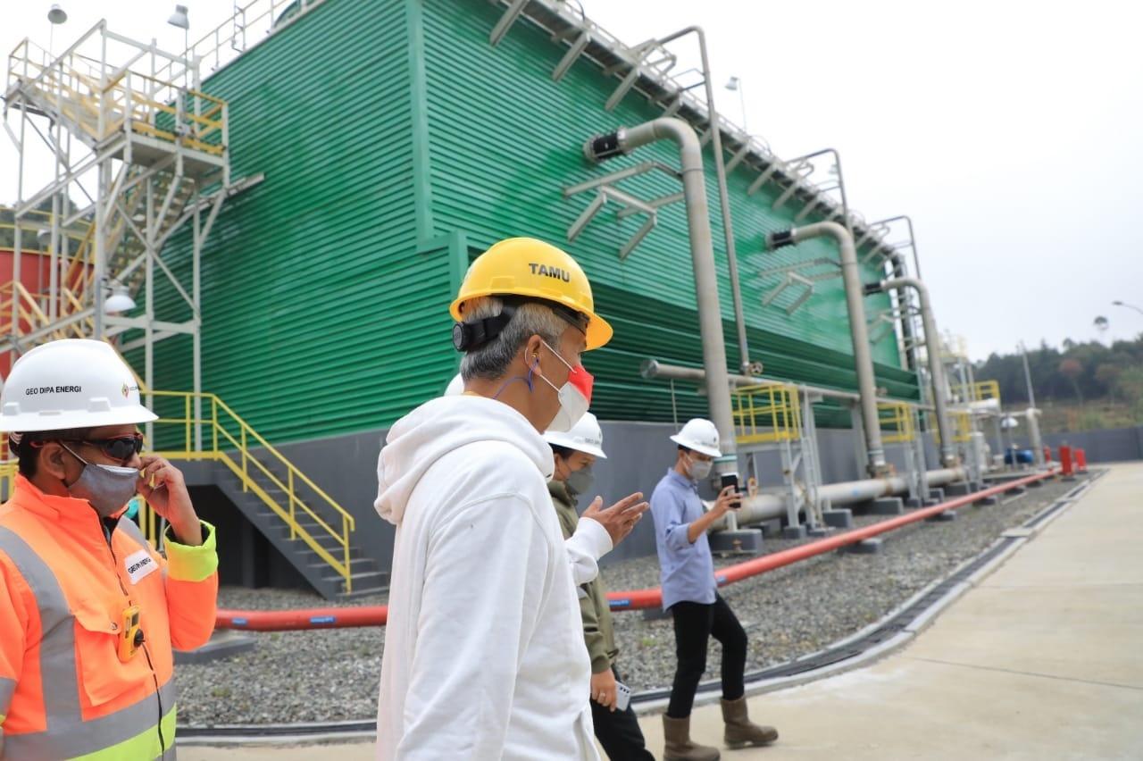Gubernur Jawa Tengah Ganjar Pranowo mendorong pengembangan proyek geothermal di Kawasan Dieng Banjarnegara. (Foto. Istimewa)